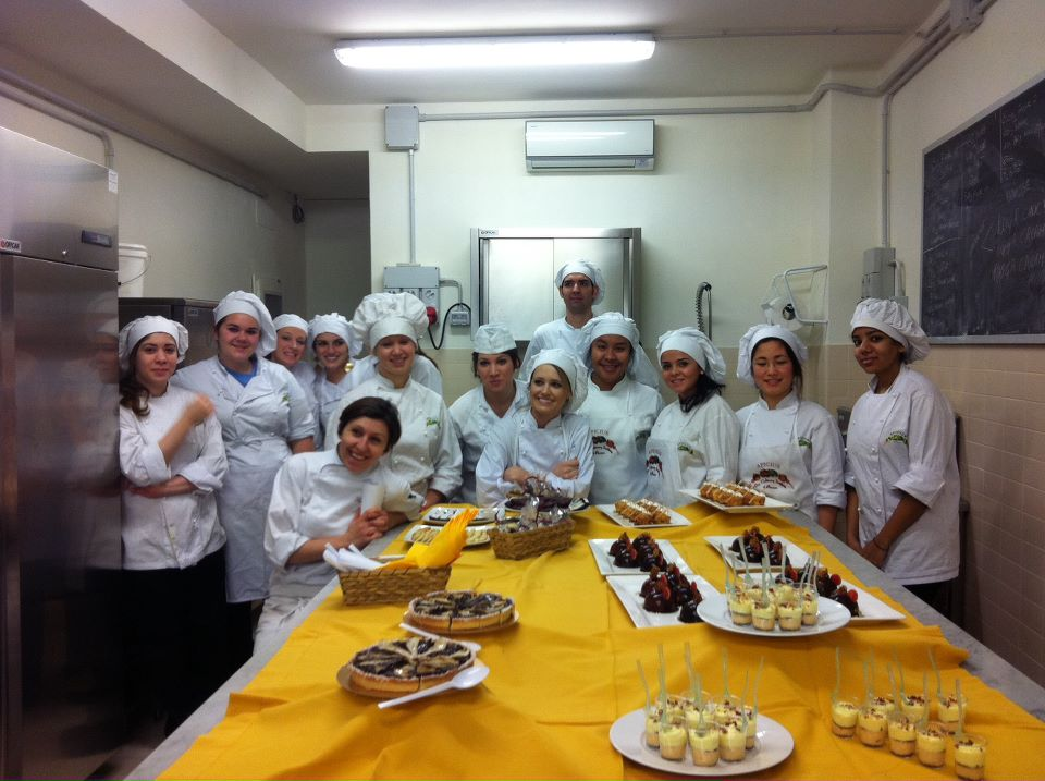 Apicius students attending Italian Baking and Pastry Class