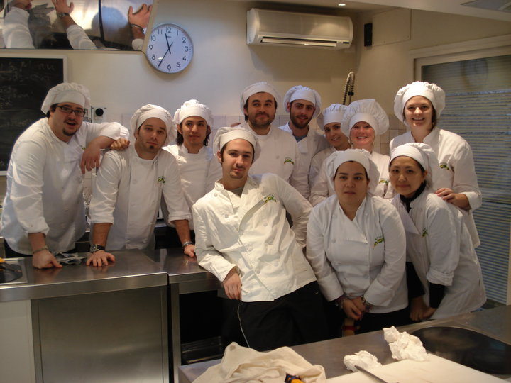 Apicius students attending Culinary Art Class